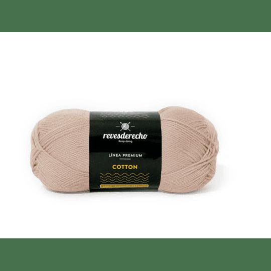 Lana Cotton 100% algodón premium revesderecho beige arena 005