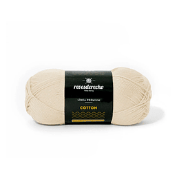 Lana Cotton 100% algodón premium revesderecho crudo 049