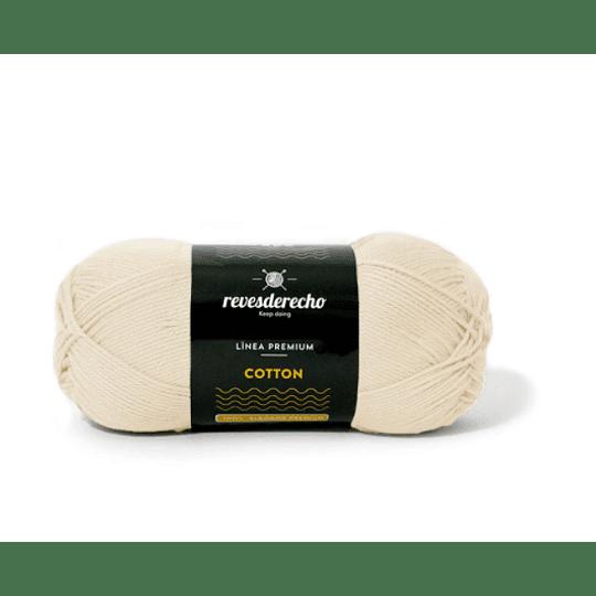 Lana Cotton 100% algodón premium revesderecho blanco invierno 039