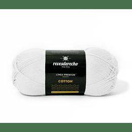Lana Cotton 100% algodón premium revesderecho blanco  001
