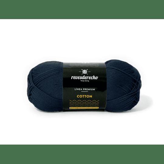 Lana Cotton 100% algodón premium revesderecho azul marino 004