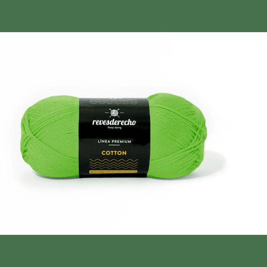 Lana Cotton 100% algodón premium revesderecho verde pistacho 007