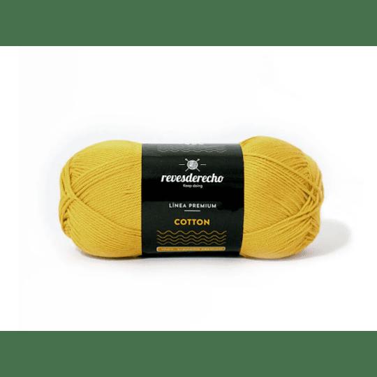 Lana Cotton 100% algodón premium revesderecho amarillo pastel 034