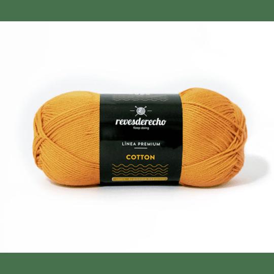 Lana Cotton 100% algodón premium revesderecho amarillo mostaza 067