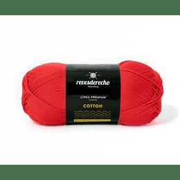 Lana Cotton 100% algodón premium revesderecho rojo italiano  003