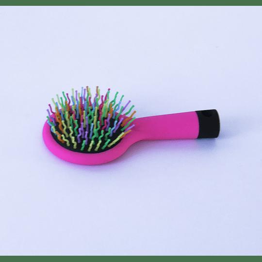 Cepillo con Espejo Rosado