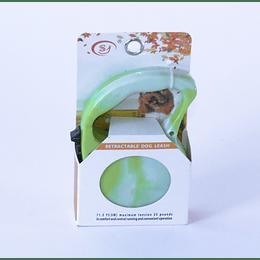Correa para Mascota Retráctil Verde Marmol