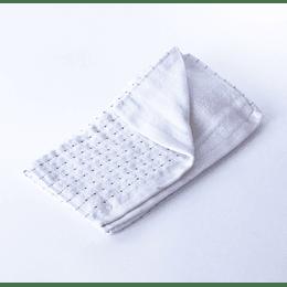 Paño Cocina -Toalla Qingchen 35x75 Cudriculado Crema-Gris