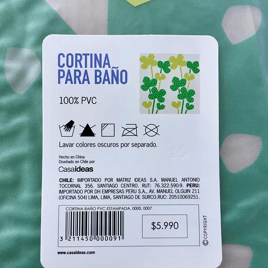 Cortina de Baño PVC Estampada