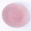 Plato Comida Stoneware  27cm Diseño Lineas Rojas