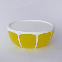 Ensaladera Con Tapa 24,5cm amarilla