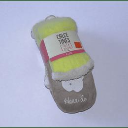 Calcetines  33/34  Tejido Suela/Amarillo