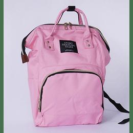 Bolso pañalero rosado