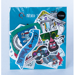 Set 24 Stickers Musica