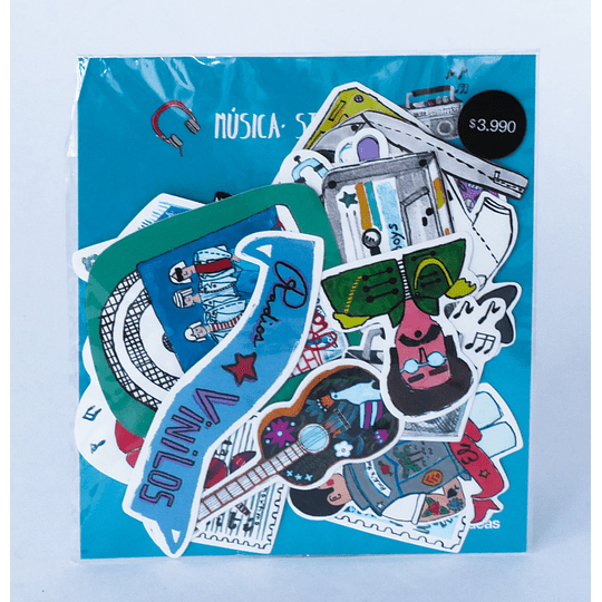 Set 24 Stickers Musica