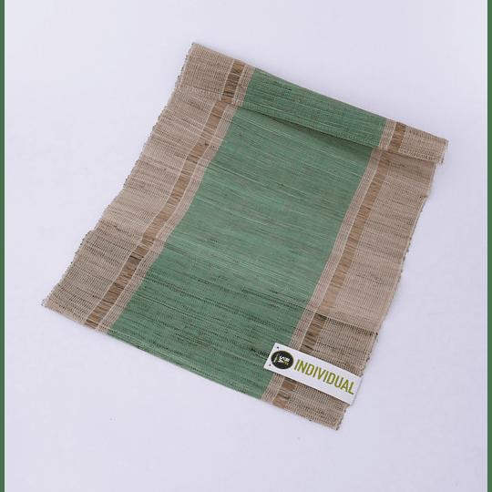 Individual Natural Tejido - Verde