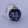 Adorno Cerámica Pintada Arbol Navidad Azul