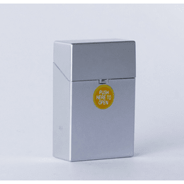 Cigarrera Metal Plateada