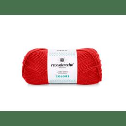 Lana Colors rojo italiano 0019 50 gramos revesderecho