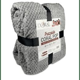 Frazada térmica Coral Pop 1,5 plazas gris