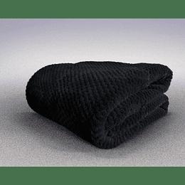 Frazada térmica Coral Pop negra 1,5 plazas