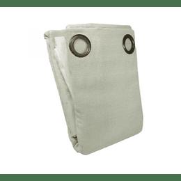 Combo rústico cortinas Emilia Crudo Doral 140x220