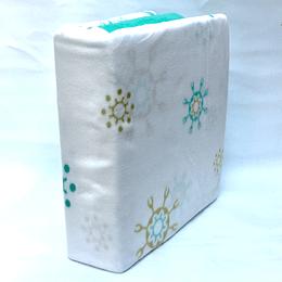 Sábanas de Polar Composé 2 Plazas-Queen /nieve turquesa, verde