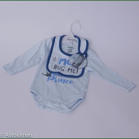 Set Body + Babero Bambino Gift / mom hug me 9-12meses