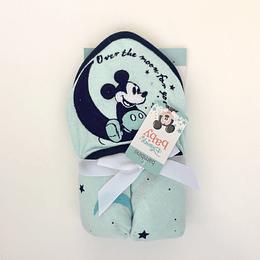 Toalla con Gorrito Bambino Disney Celeste