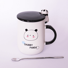 Mug Figura Panda con Cuchara