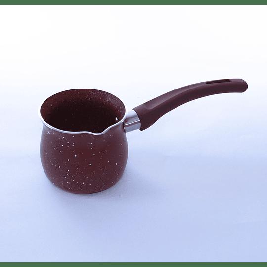Olla / Jarro para café turco enlozada 250ml Burdeo
