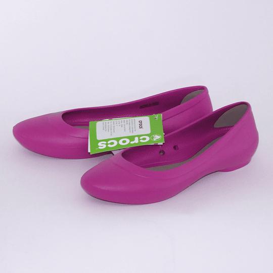 Zapatos Lina Flat W7 /37 Fucsia Crocs