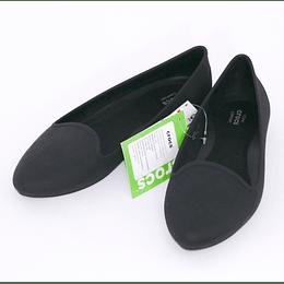 Zapatos Eve Flat W9 /39 Negro Crocs