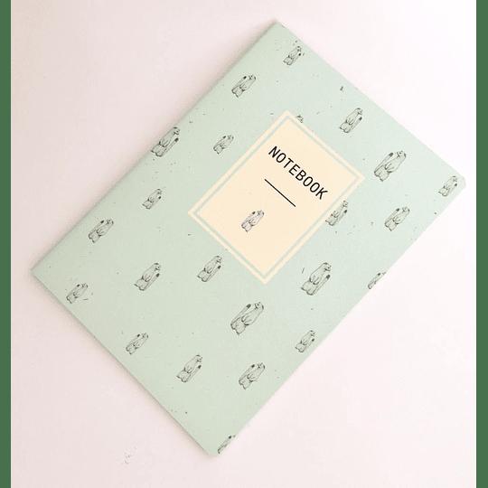 Cuaderno 32 hojas 18x25 Composición Celeste Suricata