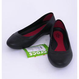 Zapatos Lina Flat W 38-39 Negro Crocs
