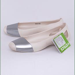 Zapatos Sienna Shiny Flat W7 37-38 Blanco/Plata Crocs