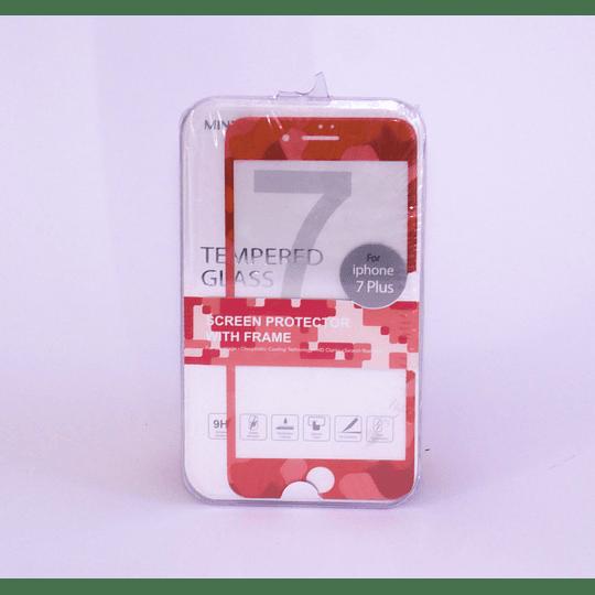 Protector de Pantalla para iphone 7 Plus  Camuflaje Rojo Miniso
