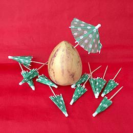Palito Stick Decorativo Cocktail Repostería  PartyTime Sombrilla Lunares 12u