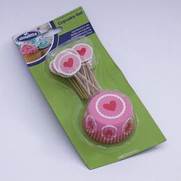 Cupcake Set Corazón
