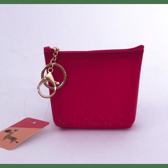 Monedero Con Llavero Rojo frambuesa