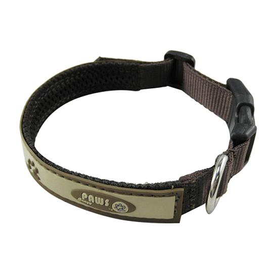 Collar Para Mascota Crazy Paws Patitas Café  DPETC007-BN