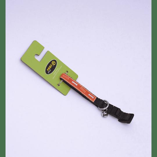 Collar Para Mascota Crazy Paws Huesitos Naranjo DPETC007-Bone-OR