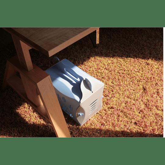 Transportador Mascota Eco Patitas Celeste/gris Small DPETC025-BL