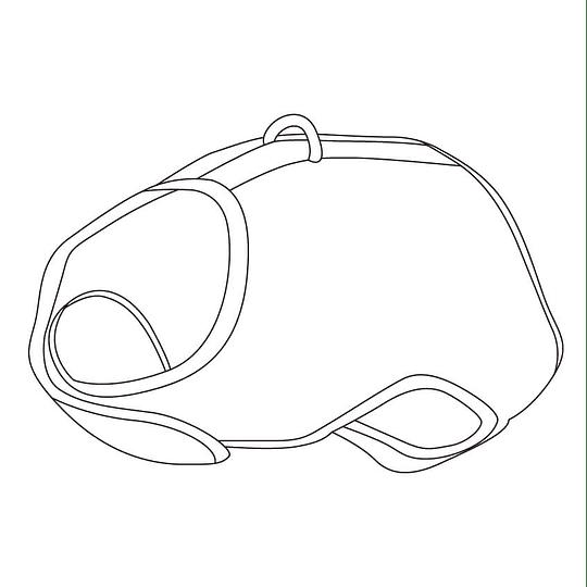 Arnés de Malla Respirable Small Negro DPETH011-BK