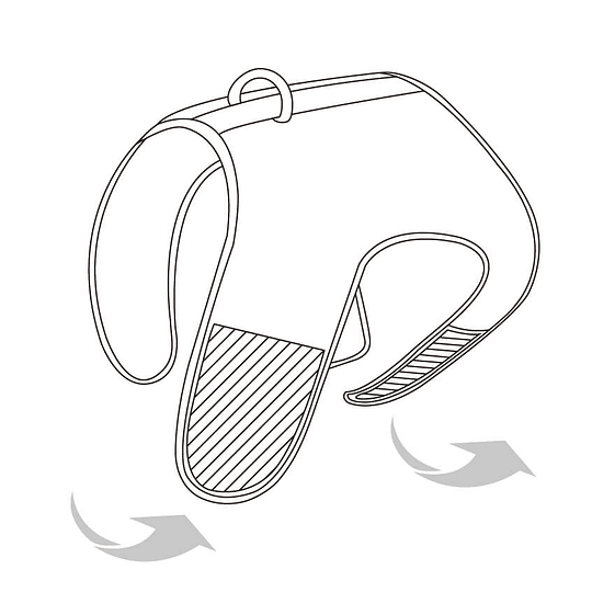 Arnés de Malla Respirable Medium Lila DPETH012-LL