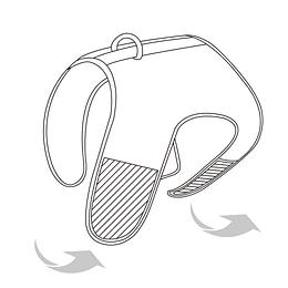 Arnés de Malla Respirable Medium Negro DPETH012-BK