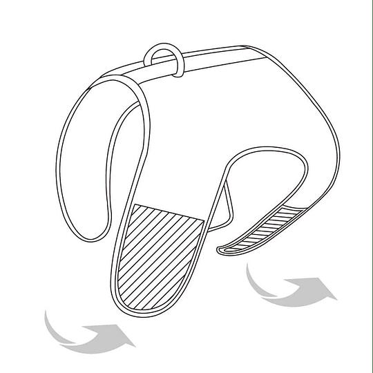 Arnés de Malla Respirable X/Small Negro DPETH007-SB