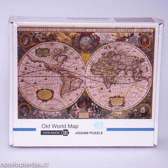 Puzzle 1.000 pcs 70x50 Old World Map