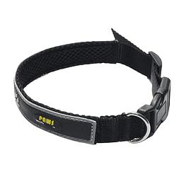 Collar Para Mascota Crazy Paws Patitas Negro  DPETC012-BK