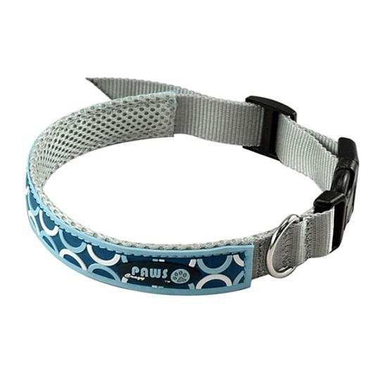 Collar Para Mascota Crazy Paws Pop Azul  DPETC012-POP-BL